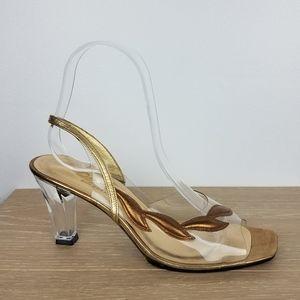 Vintage | Clear Grecian Goddess Heel Sandals